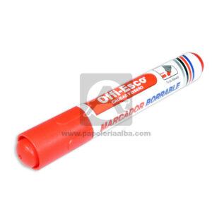 marcador Borrable Calidad y Diseño Offi- Esco Rojo Bisuleada
