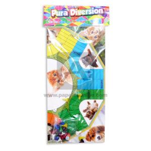 Parqués juego de mesa De doblar Pura diversión Gatitos Proyecciones Plásticas + Dados + Fichas Cartón