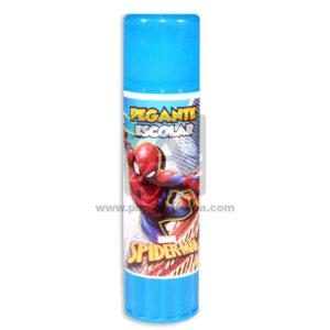 pegante barra Escolar Personajes Disney Spiderman Niña Rosado