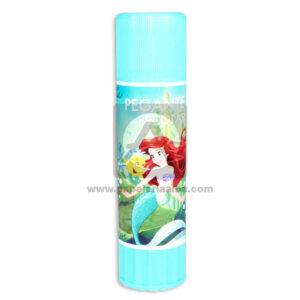 pegante barra Escolar Personajes Disney La sirenita Primavera Niña azul aguamarina