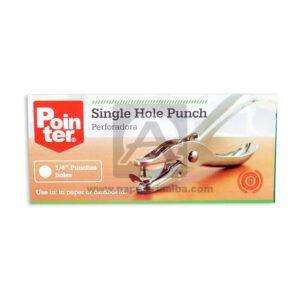 perforadora Single Hole Punch Pointer Mediana Metálico