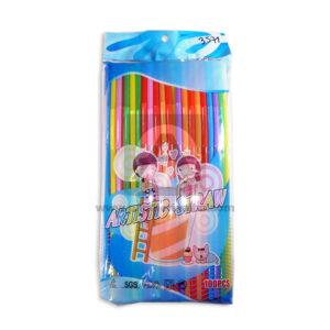 pitillo plástico Con Resorte Artistic Straw Cuantias Surtido 100 Unidades Largo