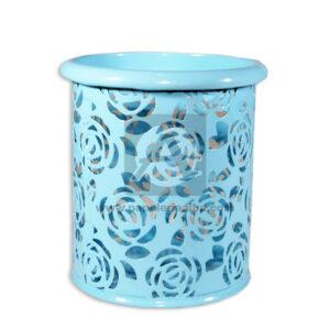 Porta Lápiz Organizador de Escritorio Canasta Geoz Mediano Metálico azul aguamarina femenino