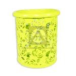 Porta Lápiz  Organizador de Escritorio   Canasta  Geoz Mediano Metálico amarillo unisex