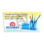 Porta Lápiz  Organizador de Escritorio   Pencil and Memo Holder  Acrimet Mediano Plástico Azul unisex