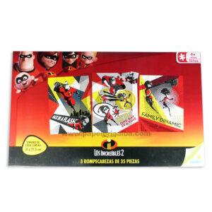 rompecabeza Los Increíbles Ronda Caja + 4 Años 3 unidades 35 Piezas Niño