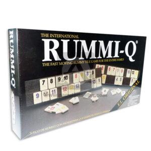 juego de mesa Rummi-Q El Original para jugar en Familia Plásticos Asociados 106 Fichas 2 comodines 4 Portafichas Caja 2-4 Jugadores +8 Años