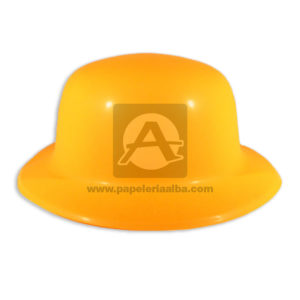 Sombrero Hora Loca Neón Fival naranja Grande unisex Plástico