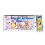 tarjeta de invitación  Babby Shawer Soy una hermsa Niña  JM Niña  Grande 18x8cm 12 unidades Escarchada  Perfumada