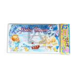 tarjeta de invitación  Para Baby Shower JM unisex Mediana  16x9cm Escarchada  Perfumada  12 unidades