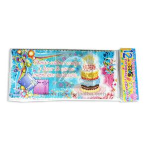 tarjeta de invitación de Cumpleaños JM femenino Grande 18x8cm Escarchada Perfumada 12 unidades