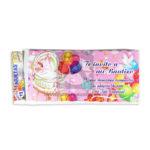 tarjeta de invitación  Fiesta de Bautizo, Te invito a mi Bautizo Cuna  Premium   Galvin unisex 18x8cm Escarchada  Perfumada  12 unidades