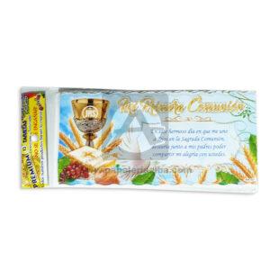 tarjeta de invitación Para Fiesta de Comunión, Mi primera comunión Santa Cena Galvin unisex 18x8cm Escarchada Perfumada 12 unidades