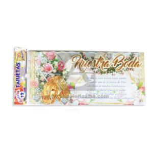 tarjeta de invitación Para fiesta de Bodas, Nuestra Boda Premium Galvin unisex Escarchada Perfumada 12 unidades
