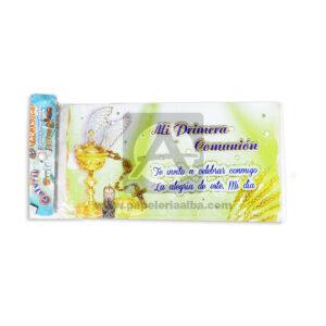 tarjeta de invitación Para Fiesta de Comunión, Mi primera comunión Vino de Cristo Galvin unisex Escarchada Perfumada 12 unidades