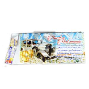 tarjeta de invitación Para fiesta de Boda, Nuestro Matrimonio Clasic car Galvin unisex 18x8cm Escarchada Perfumada 12 unidades