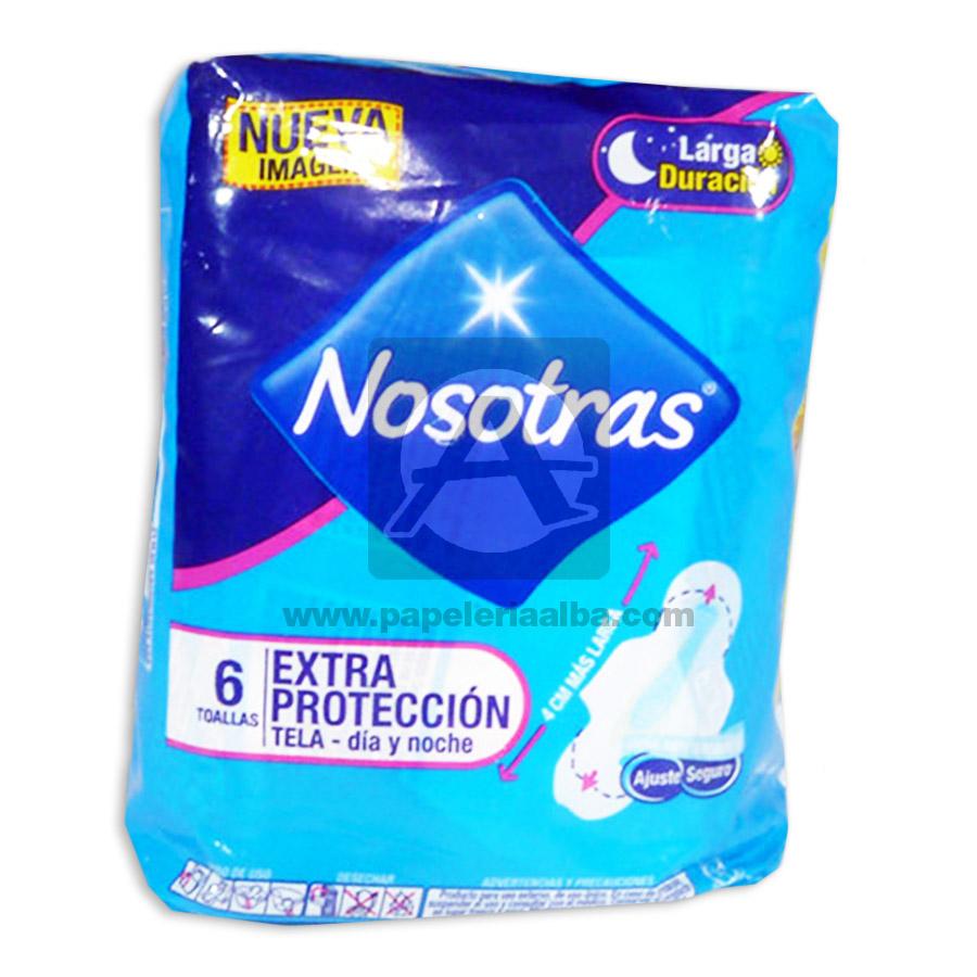 toalla higiénica  Dia Y Noche  Larga Duración Extra Protección    Nosotras femenino Tela 6 unidades