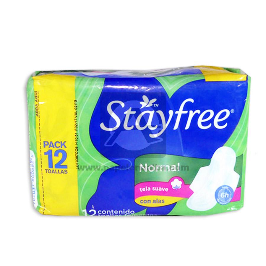 toalla higiénica  Normal  Con Alas Pack   StayFree femenino 12 unidades Tela