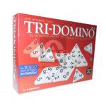 juego de mesa  Tri-Domino Para Jugar En Familia Plásticos Asociados 56 Fichas Caja 2-6 Jugadores +7 años  blanco