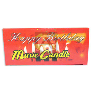 vela Flor Happy Birthday Music Candle Surtifantasias Pequeña