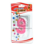 vela  Torta Numero 9 Mágica Yulivel Escarchada  Cuantias Rosado femenino Mediana