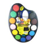 acuarela  Artística  en Paleta Kids 3810 Studmark Surtido 12 unidades +Pincel