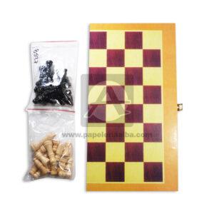 juego de mesa juego de azar Ajedrez Cheess Game Cuantias Grande beige Negro Madera