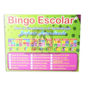 juego didáctico Bingo Escolar, Bingo del Abecedario PC citos unisex Grande Caja