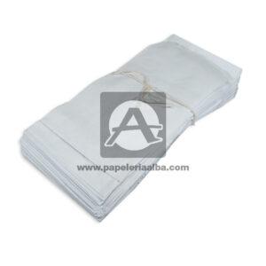 bolsa de papel Plana Paquete #106 Converpel blanco 500 Unidades Pequeña