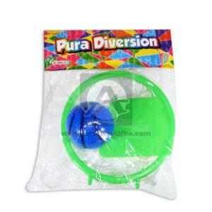 juego didáctico Cancha de Basketball Con Pelota Plastoy Proyecciones Plásticas verde unisex +3 Años 2 Unidades Mediana