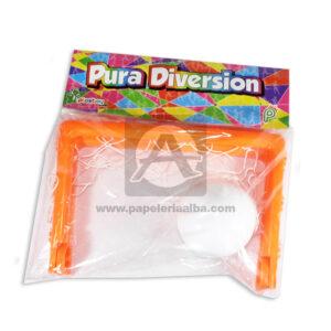 juego didáctico Cancha de Futbol Con Pelota Pura Diversión Plastoy Proyecciones Plásticas naranja unisex +3 Años 2 Unidades Mediana