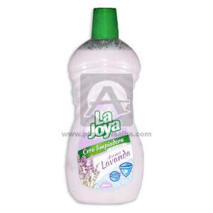 Cera Para Pisos Liquido Limpiador Auto brillante Aroma Lavanda La Joya blanco 1000 cm3