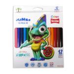 color  Vibrantes Jumbo  Scribe 12 unidades Triangular Unipunta