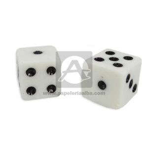 juego de mesa Dados Medianos En Marfil Variedades Quintero blanco 2 Unidades