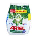 Jabon en Polvo  detergente  Con Perlas Limpiadoras  Ariel Bolsa 450 Gramos Grande