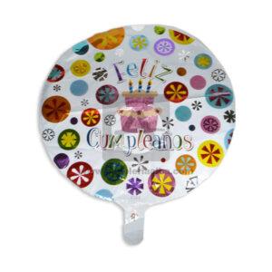 Globo Para decoración de Cumpleaños, Feliz Cumpleaños Flores Fival blanco Multicolor Grande