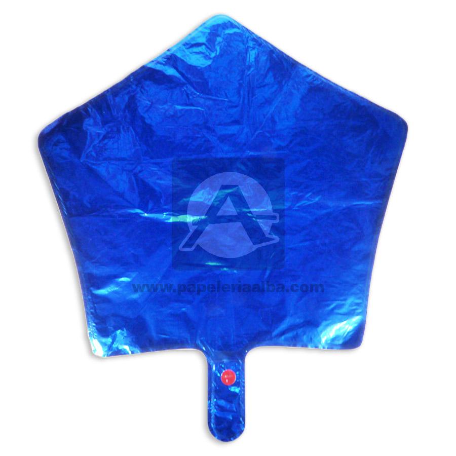 Globo  Estrella Metalizado  Duran Rueda Azul Grande Plástico