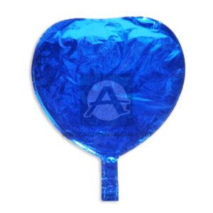 Globo Corazón Metalizado Duran Rueda Azul Grande Plástico