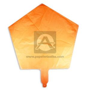 Globo Estrella Neón Duran Rueda naranja Grande Plástico
