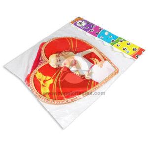 guirnalda Decorativa para el día de las Madres, Corazones Estampados Panda blanco Rojo Largo femenino