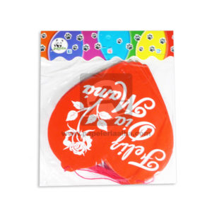 guirnalda Decorativa para el día de las Madres, Feliz día Mamá Corazones Estampados Panda blanco Rojo Largo femenino