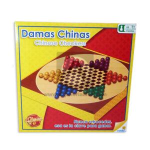 juego de mesa Damas Chinas Chinese Checkers Juego Familiar Clasico Ronda Caja 2-4 Jugadores +8 Años Surtido