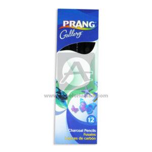 lápiz dibujo Carboncillo Suave Charcoal Pencil Prang Gallery Marino Negro Caja 12 unidades