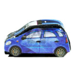 Vehículo  Maqueta  Carro Innovar Azul Pequeño Fomy