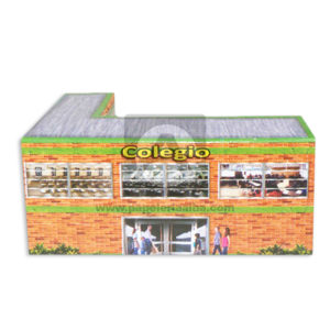 Maqueta Construcción Edificación Colegio Innovar Grande Cartón