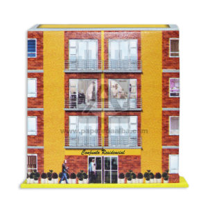 Maqueta Construcción Edificación Conjunto Residencial Edificio Innovar Pequeño Cartón