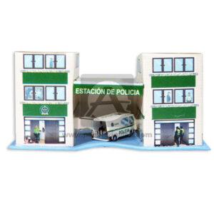 Maqueta Construcción Edificación Estación de Policía Innovar Grande Cartón