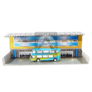Maqueta Construcción Edificación Terminal de Transporte Innovar Grande Cartón