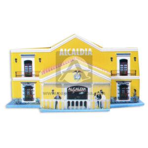Maqueta Construcción Edificación Alcaldía Municipal Innovar Grande Cartón amarillo