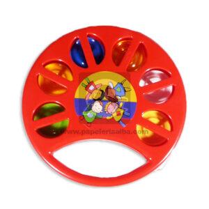 juego didáctico Pandereta Niños Felices Fantiplas Rojo unisex Mediana
